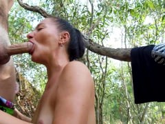 sex in the woods with a beautiful russian woman
