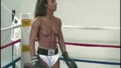 interracial topless boxing