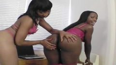 Big Booty Chocolate Lesbians | Playing With Dildo's & Pussies