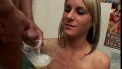 19yo COURTNEY SIMPSON drinks 21 loads – Sperm Cocktail