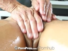 HD PornPros – Sexy brunette Adriana Chechik gets holes filled after massage