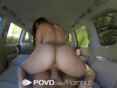 HD POVD – Holly Michaels fucked in the back of the car in pov