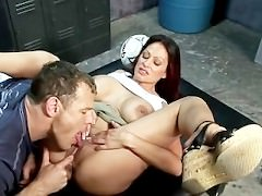 Ava Lauren Hot MILF in Locker Room