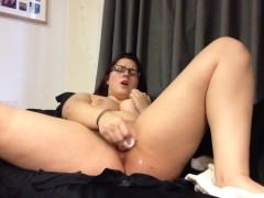 Dildo-ing my pussy and playing with my nipples