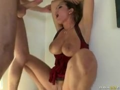 Trina withstands standing Anal from James