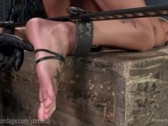 Blonde Domme Suffers Punishment