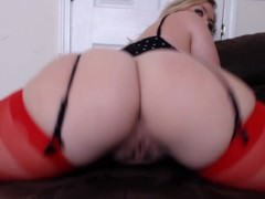 Curvy Blonde wants you to cum on her pussy JOI w/ countdown