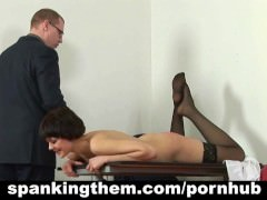 Spanked and humiliated by her boss