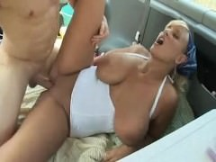 Nice Big Tit Girl going fishing and getting fucked