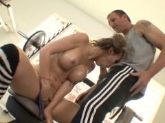 filthy fitness slut pulls her asshole and needs a cock to stretch it