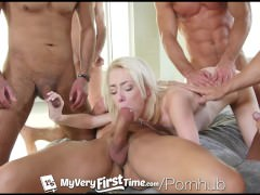 MyVeryFirstTime – New uncensored version – Maddy Rose first gang bang