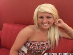 Cali Westbrook gets filled up with a big load of cum