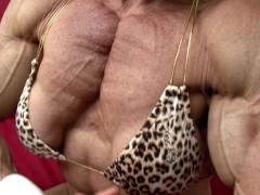 Thick and Ripped Pecs Flexing Slow