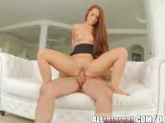 AllInternal Newcomer gets her first big creampie experience