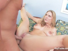 Blonde hottie Avy Scott gets nailed by Nick Manning
