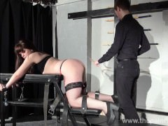 Whipped Louise in amateur spanking to tears and private submissives hell