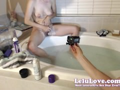 Lelu Love-WEBCAM: Bathtub Shaving Foot Scrubbing