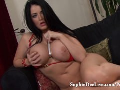 Big Tit Brit Sophie Dee Playing with Her Pussy
