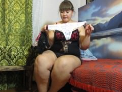 pissing in panties, fat Russian woman)