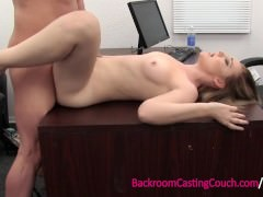 18 Teen Anal Lover Sadie Ass Fucked on Casting Couch
