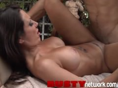 BustyNetwork MILF with Massive Juggs Fucks in a Zen Garden