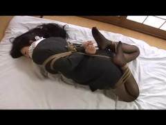 Japanese hogtied and gagged