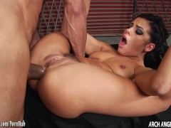 Adriana Chechik sucks big cock and fucked in the ass