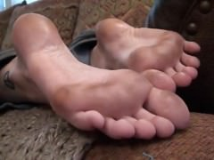 Mom Worships Daughter's Dirty Feet