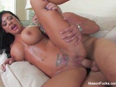 Busty Mason Moore gets her pussy pounded