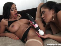 Passionate Lesbian Sex With Two Hot Black Babes!