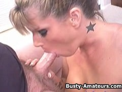 Busty Milf Tera on hot blowjob