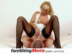 Sexy stockings legs mom Koko Margit muff diving during facesitting