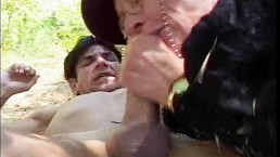 Granny Kathy Gets Banged In The Garden by his Grandson