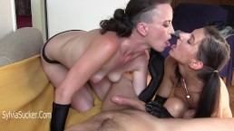 Where The Sisters Are Swallowed. Double Cum Swap Blowjob Sylvia Chrystall.