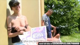 Czech Teen Perseuded for Outdoor Public Sex