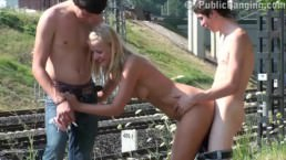 Incredible PUBLIC street sex teen orgy