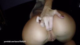 Young hot blonde slut gets a huge creampie and plays with it POV