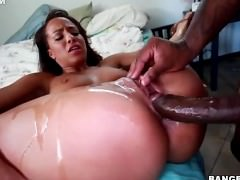 Teanna Trump spreads her legs and takes his black monster