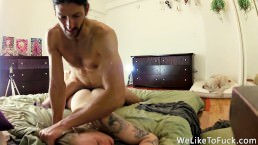 Painful Anal On Our Analversary – Struggling Slut Loves The Huge Cock