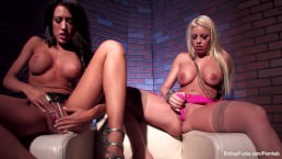 Big boob lesbian action with Britney and Capri