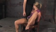 Blonde mackenzee tied up and fucked a Great one!