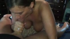 Sheila was bad, but hubby gets a blowjob to ease his pain