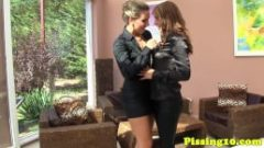 Pissdrenched glamour lesbians eating pussy